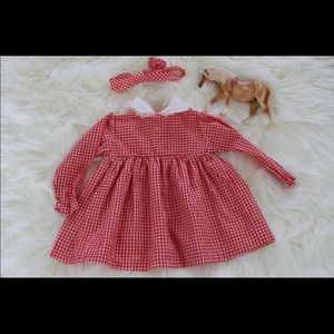 Other - Vintage Red Gingham 6-12 Months Headband